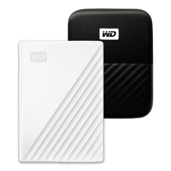 WD My Passport 휴대용 외장하드 + 파우치, 1TB, 화이트