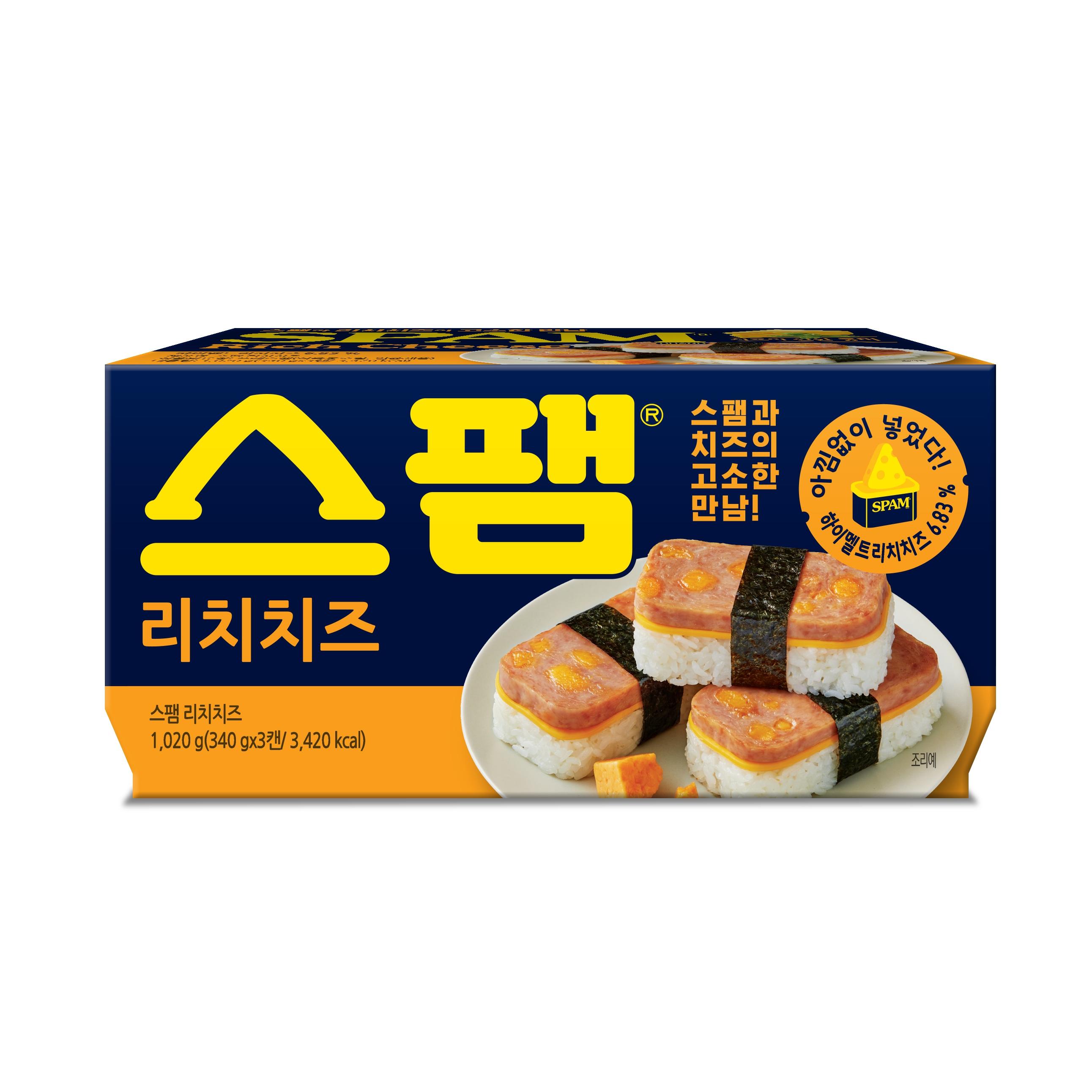 스팸 리치치즈 햄통조림, 340g, 3개