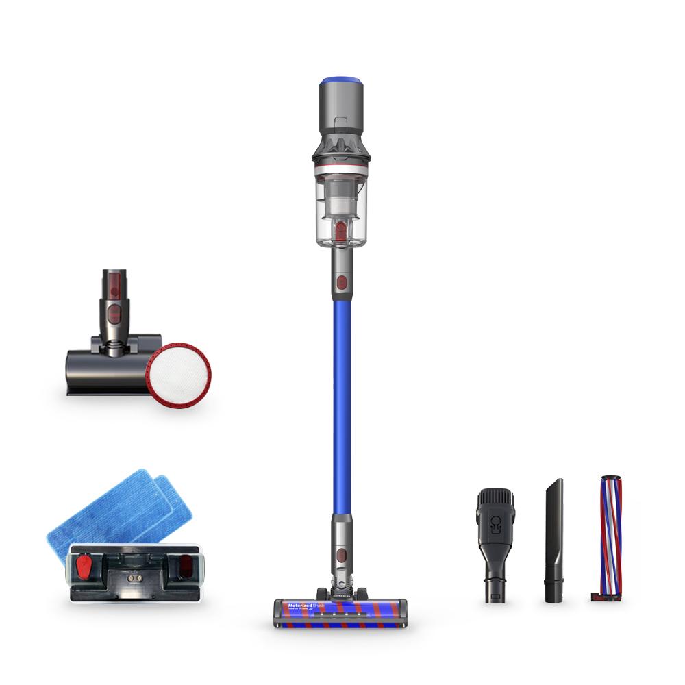 디베아 차이슨 무선청소기 X30 + 침구브러시 + 추가필터, 블루