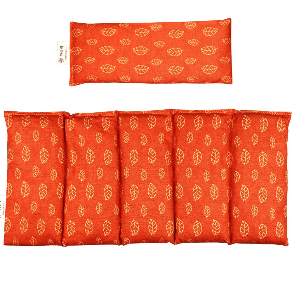 따뜻팩 천연 팥 폴리지 오렌지 대복부 + 눈 찜질팩 세트, 1개