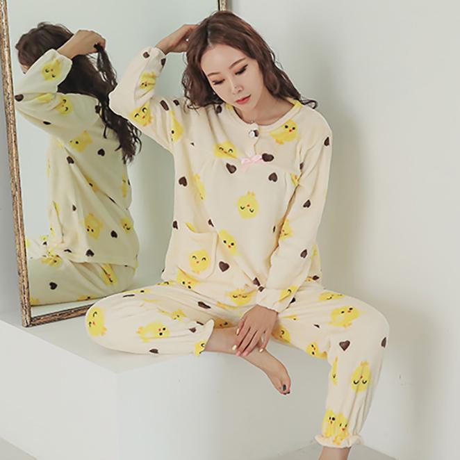 글램공감 여성용 밍크병아리 1 수면잠옷 투피스
