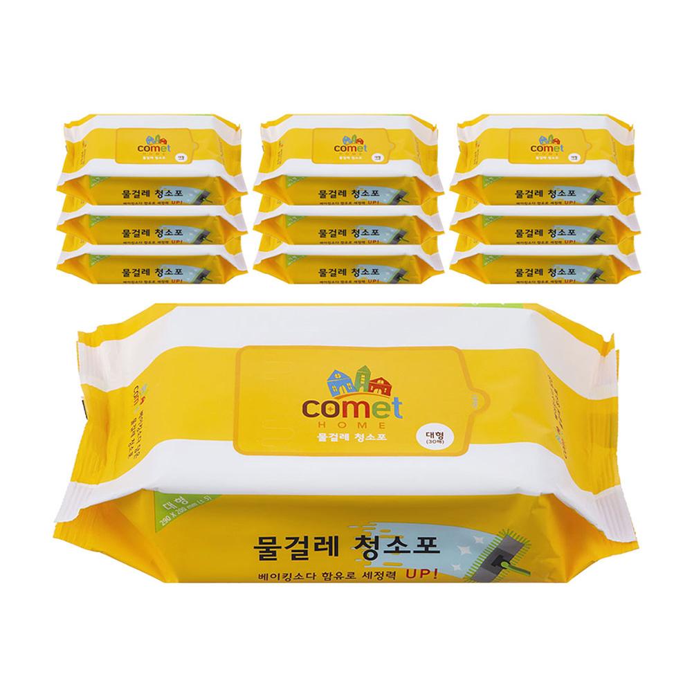쿠팡 브랜드 - 코멧 홈 물티슈 물걸레 청소포 대형 리필 30매, 10팩