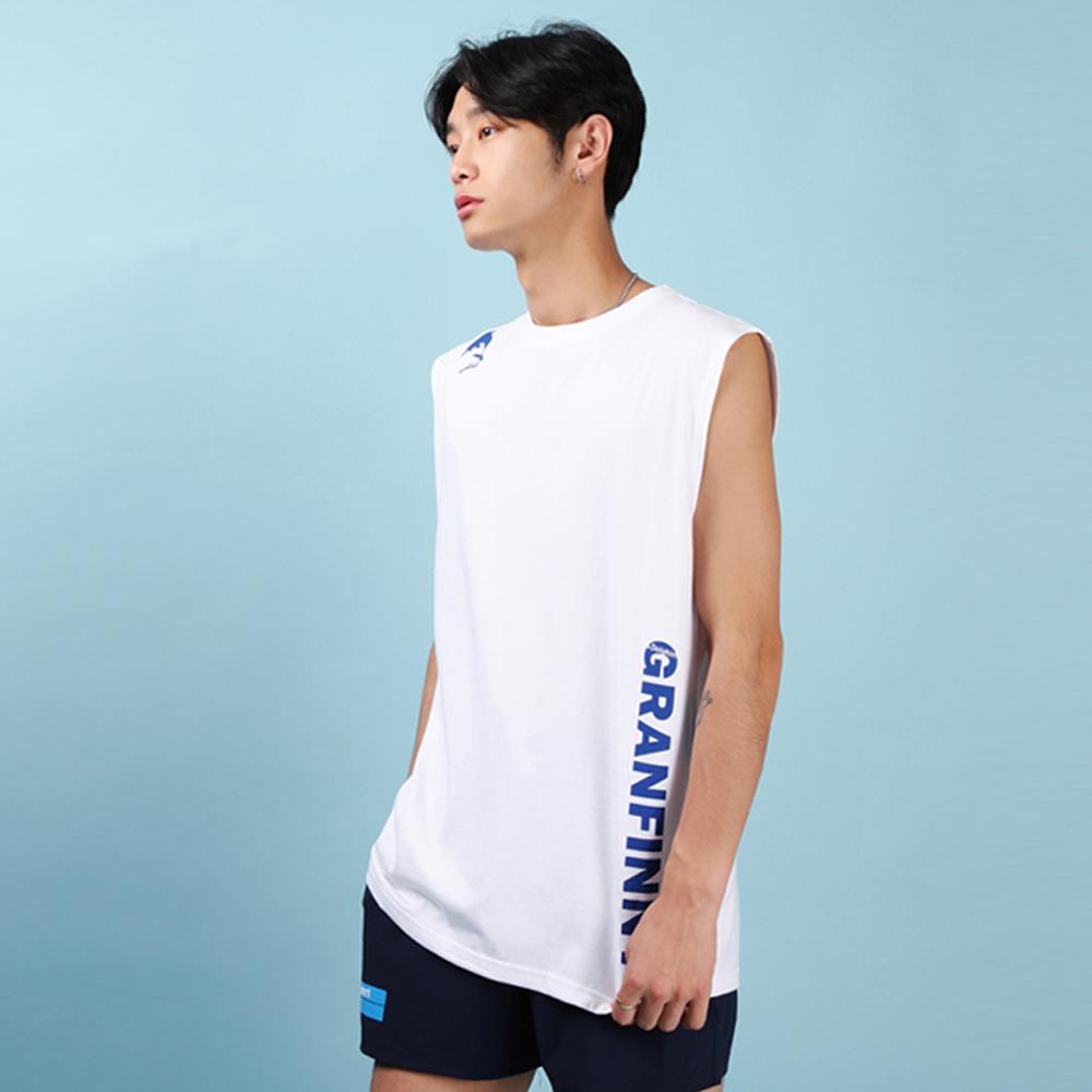그랜피니 남여공용 돌핀 슬리브리스 티셔츠 SGA