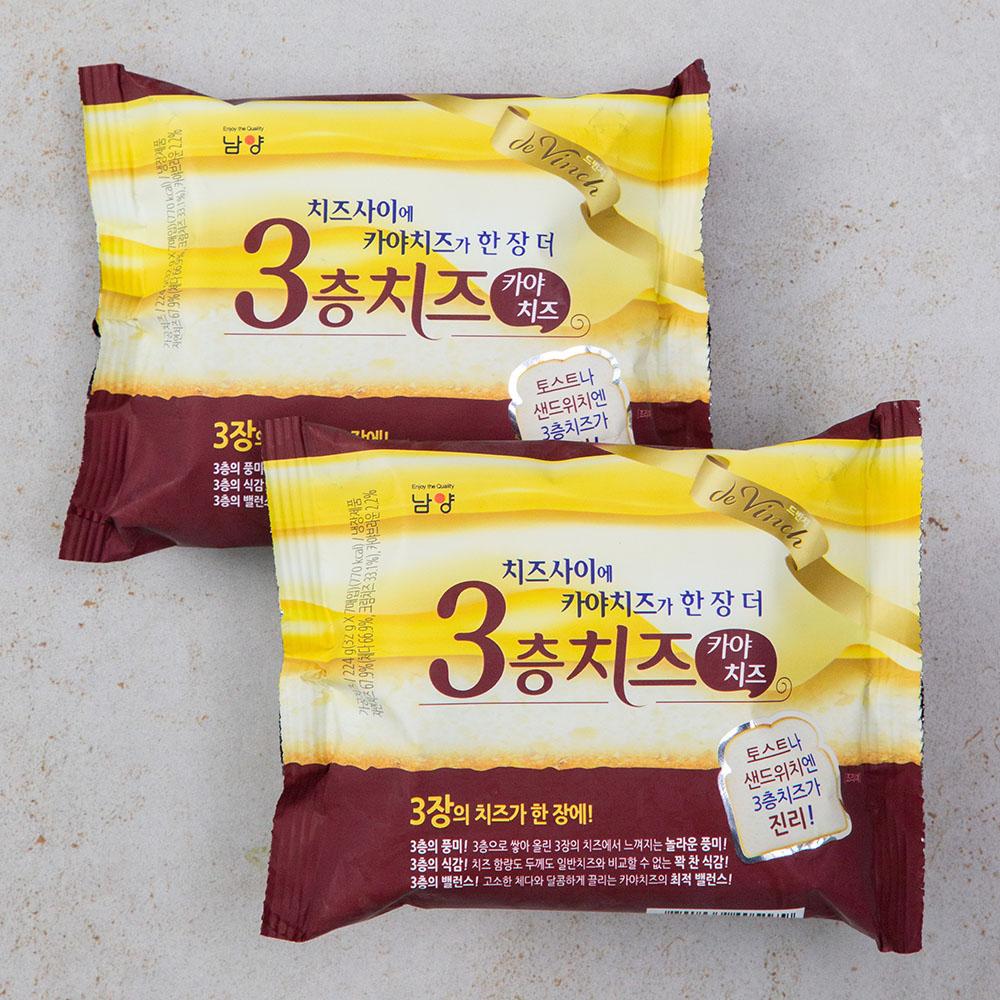 드빈치 3층치즈 치즈사이에 카야치즈, 224g, 2개