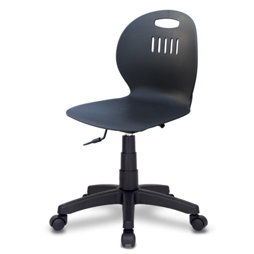 체어포커스 히든스터디 RTB 기본형 의자 회전형, 블랙바디 + 블랙다리