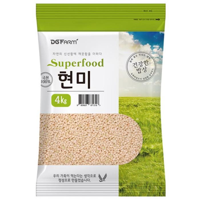 건강한밥상 국산 현미, 4kg, 1개
