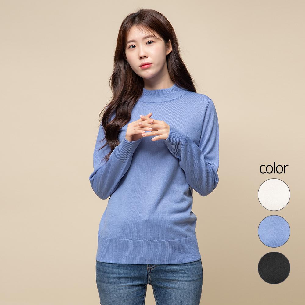 캐럿 여성용 모크넥 스웨터