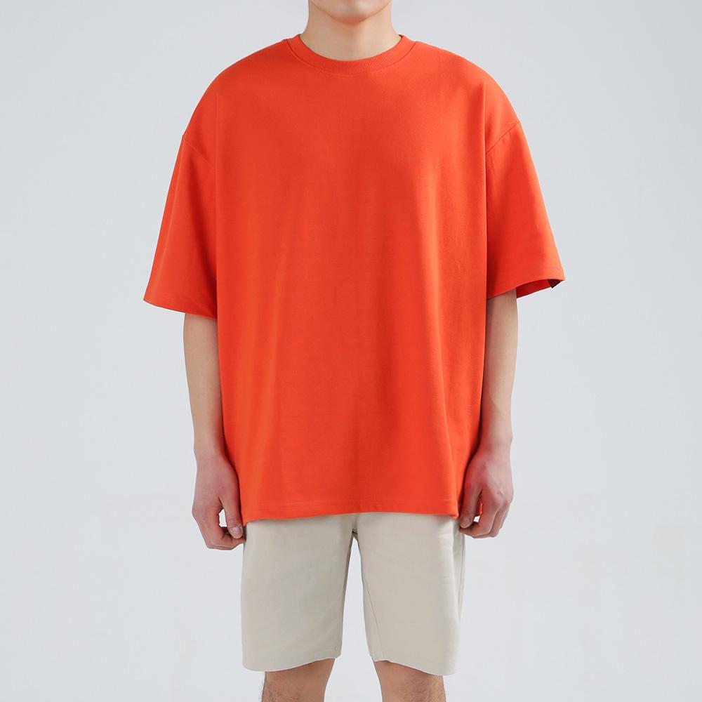 앨빈클로 더블코튼 비비드 무지 오버핏 반팔 티셔츠 AST3100