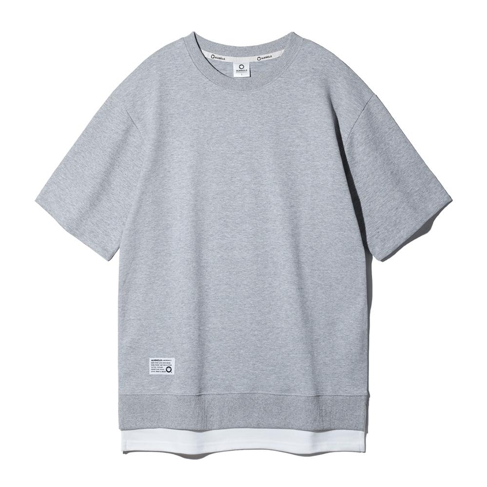앨빈클로 특양면 오버핏 레이어드 반팔 티셔츠 AST3512