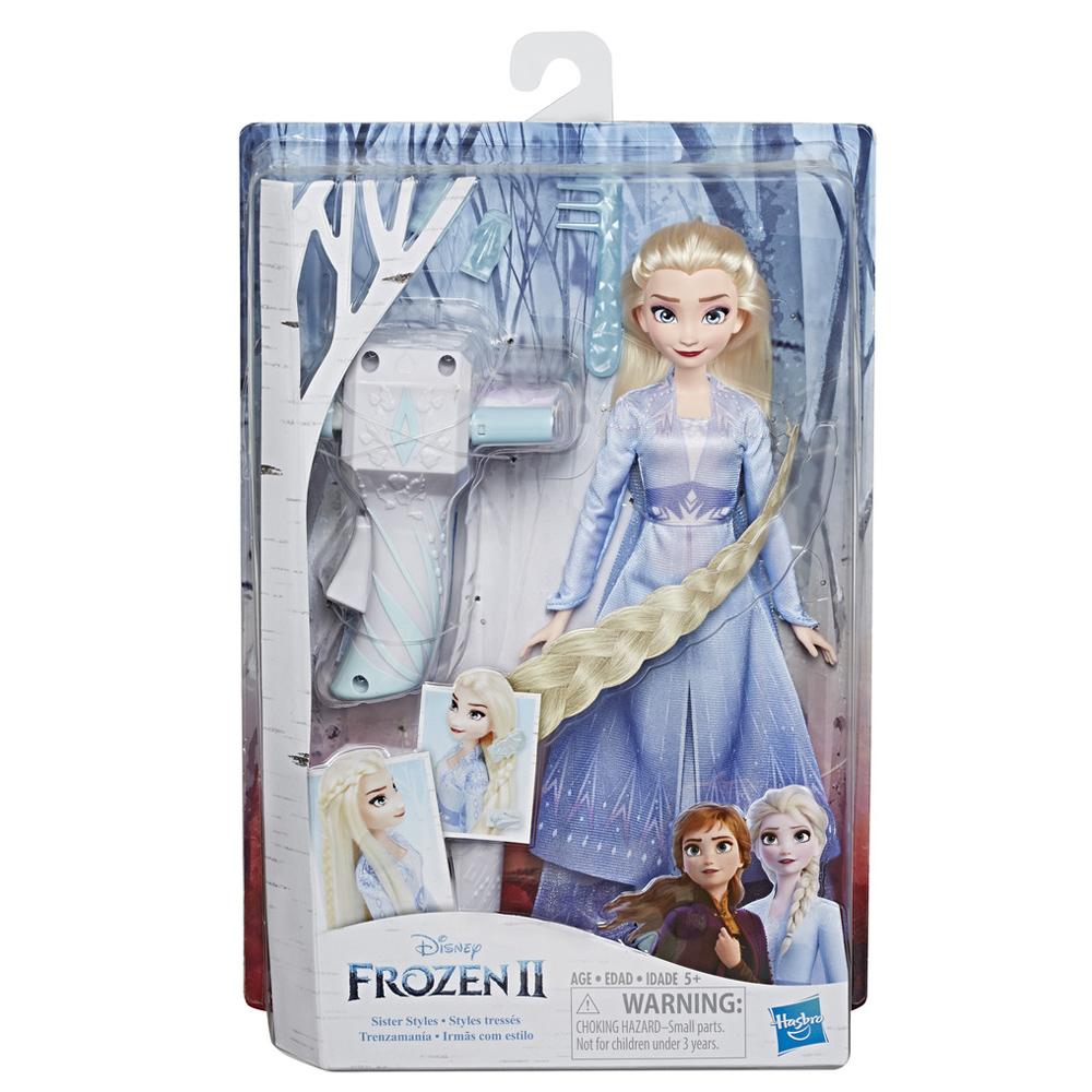 겨울왕국 2 패션돌 엘사 머리 땋기 인형세트, 혼합 색상
