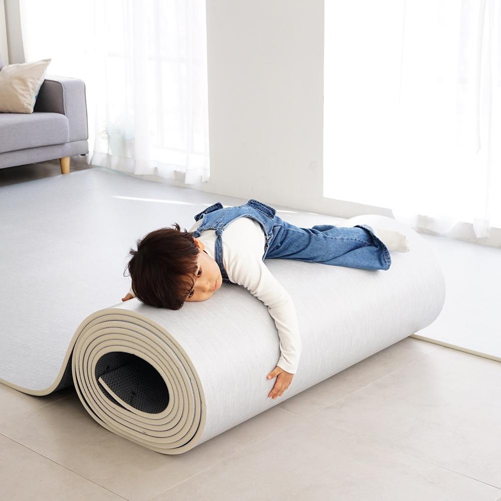 삼바텍 직물패턴 PVC 층간소음방지 셀프시공 놀이방 롤매트, 그레이
