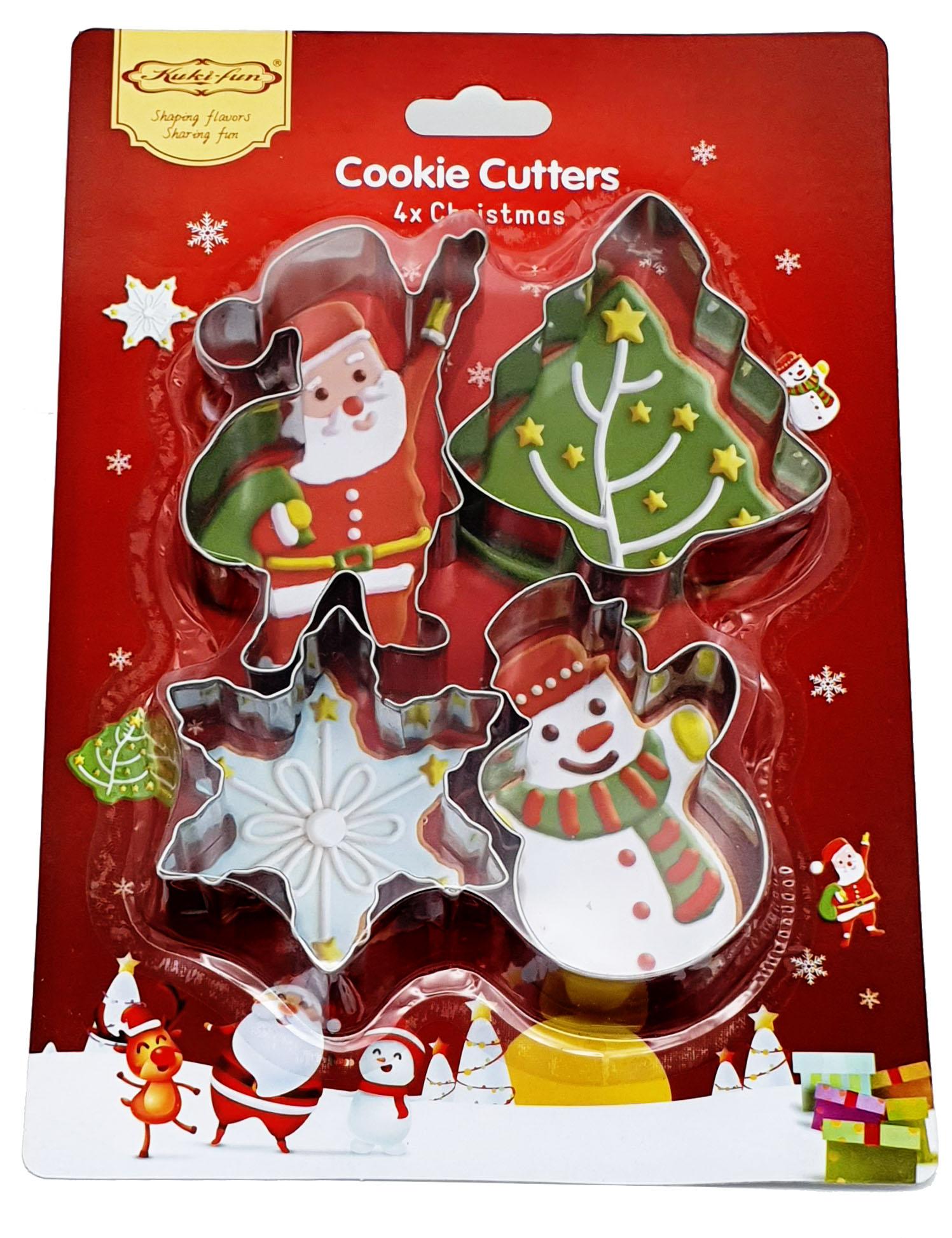 크리스마스 스텐 쿠키 커터 4종, 1세트