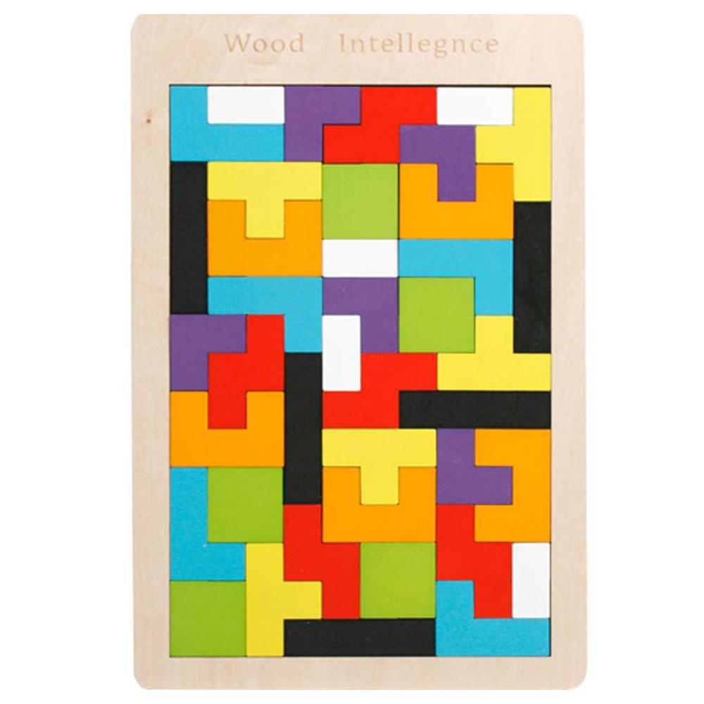 WOODENTOYFACTORY 러시안테트리스퍼즐, 1세트, 40피스