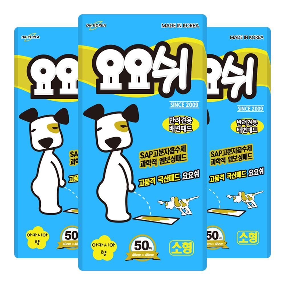 요요쉬 반려견용 배변패드 스카이 아카시아향 50매입, 3개