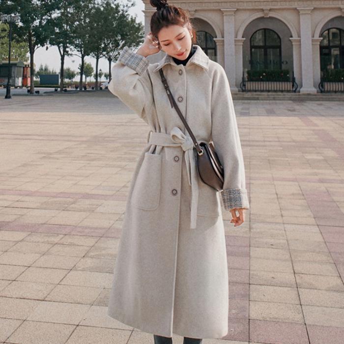 루나걸 여성용 레스본 체크 포인트 코트