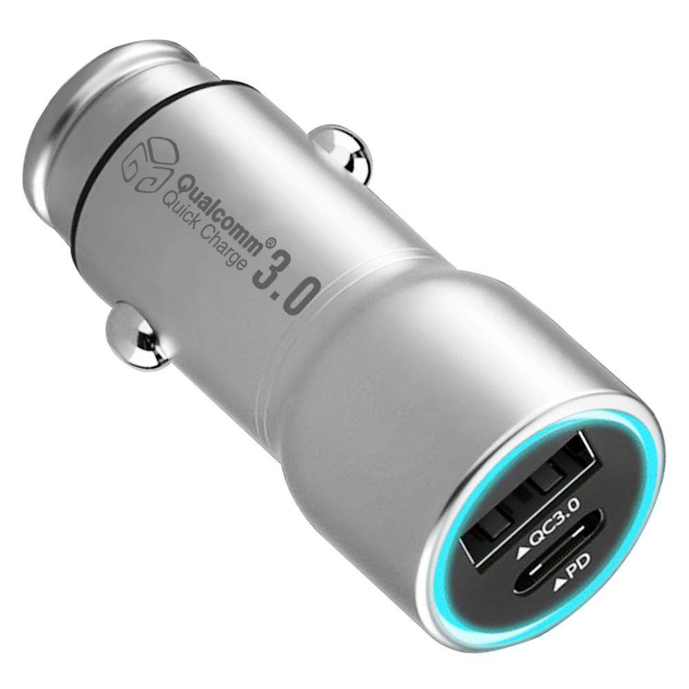 디지지 차량용 PD 고속충전기 시거잭, DGG-602(YC-2PCUP700), 메탈실버 (POP 315628362)