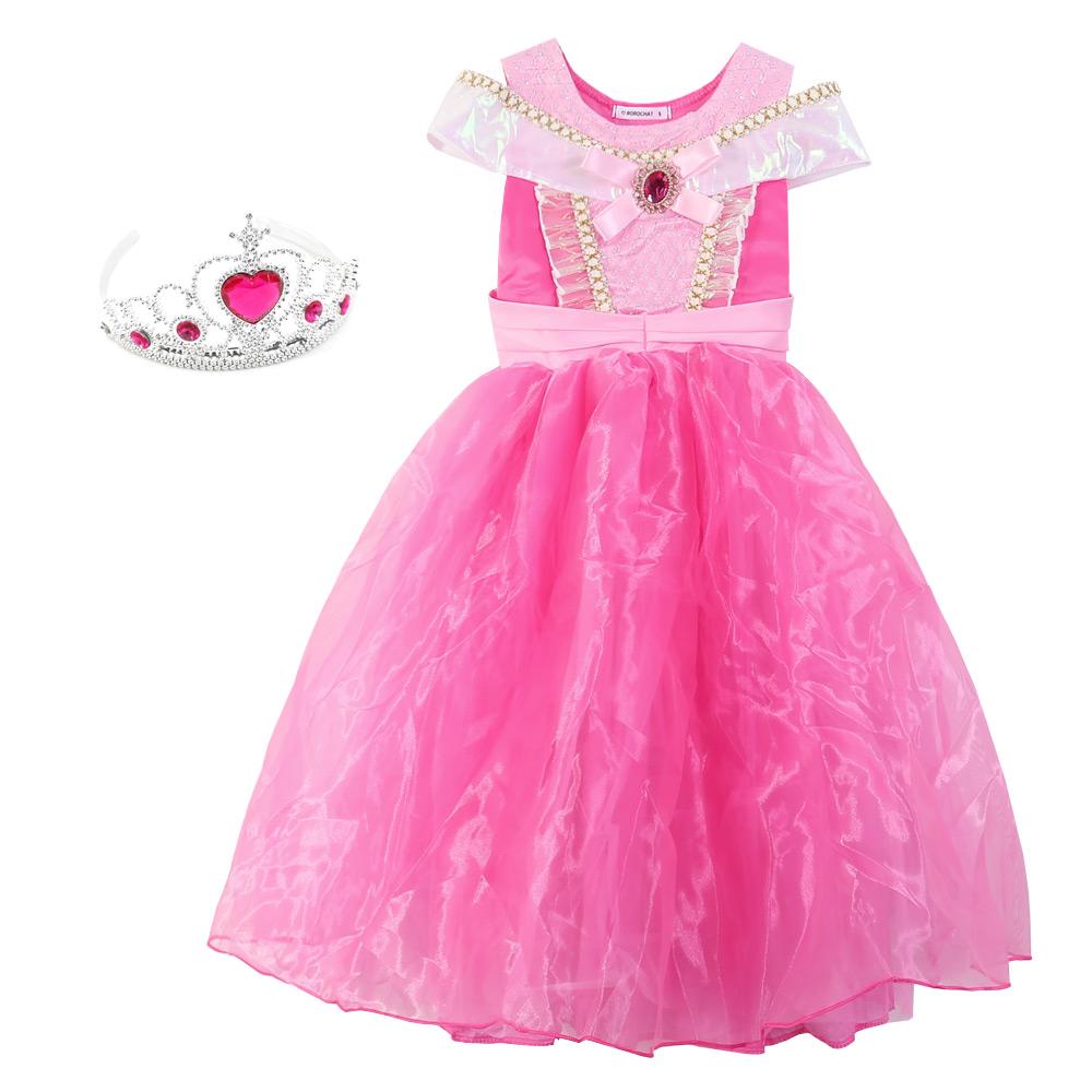 로로샤 여아용 핑크공주 드레스 세트