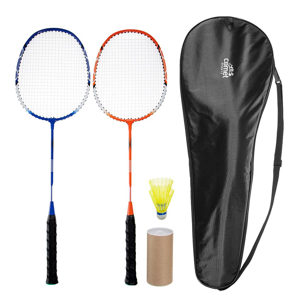 코멧 스포츠 배드민턴 라켓 + 셔틀콕 2p + 라켓 가방 1세트