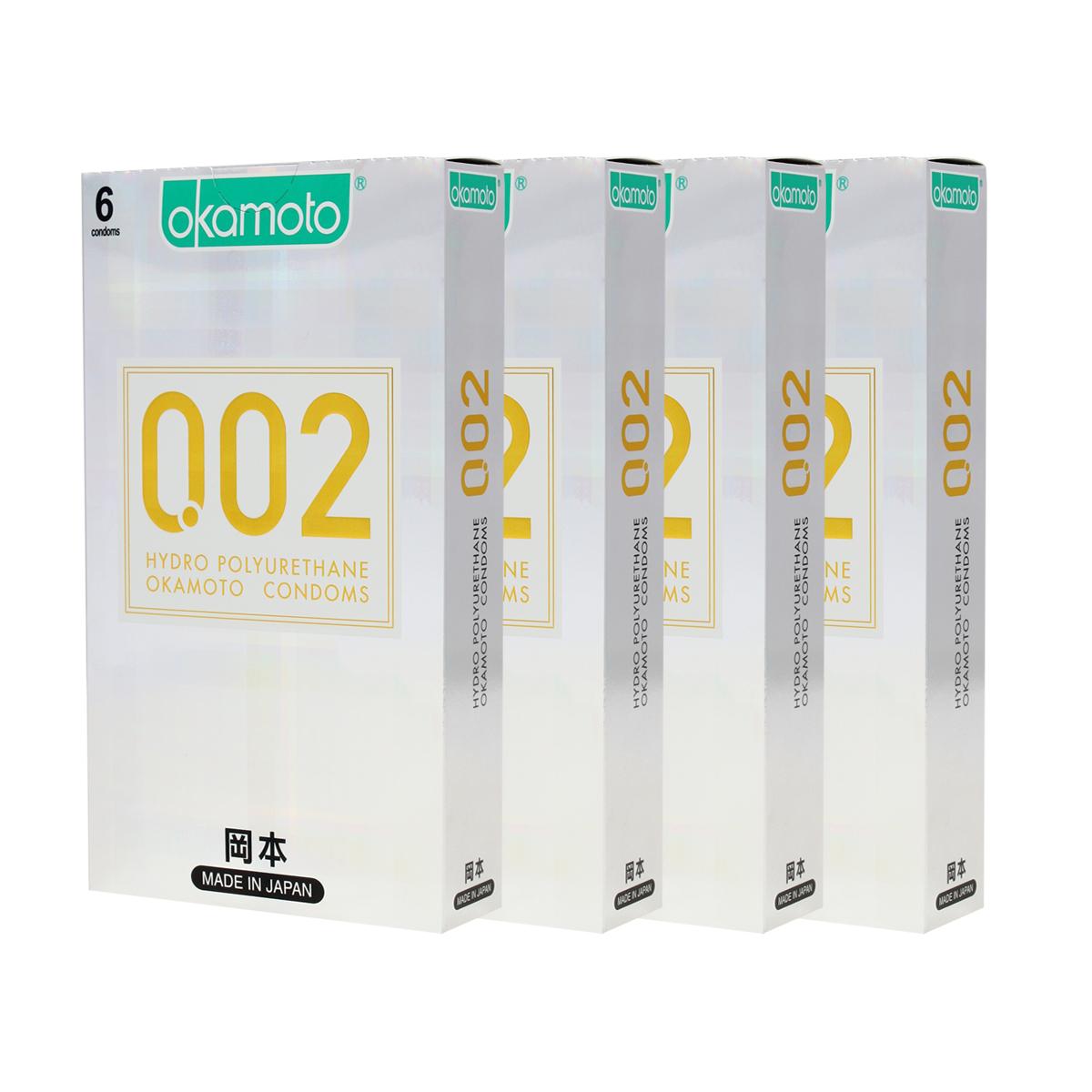 오카모토 하이드로 폴리우레탄 초박형 콘돔 0.02mm, 6개입, 4개