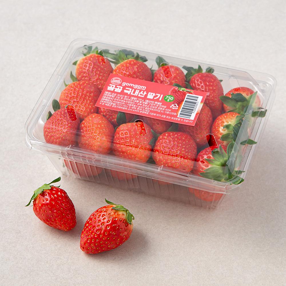 곰곰 국내산 딸기, 750g, 1팩