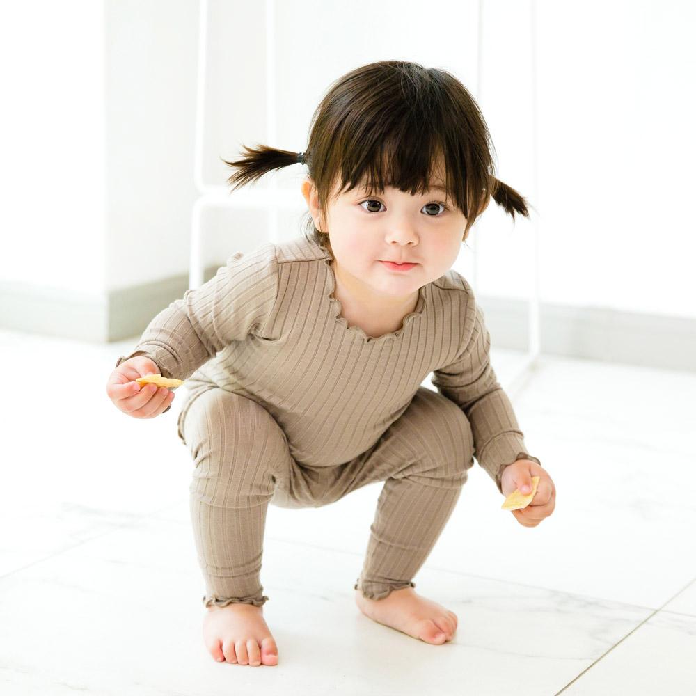 배냇베이비 아동용 모달골지 실내복