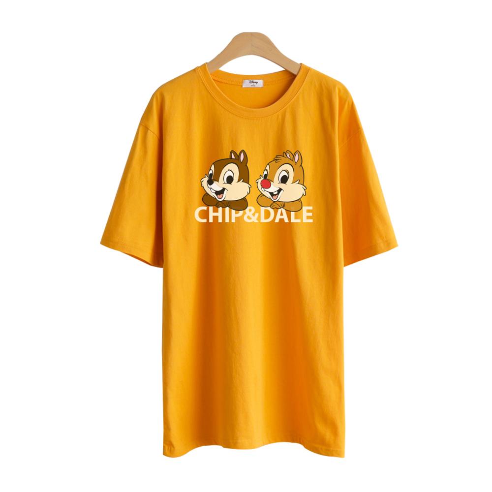 디즈니 여성용 오버핏 롱 반팔 티셔츠 RTN18-254