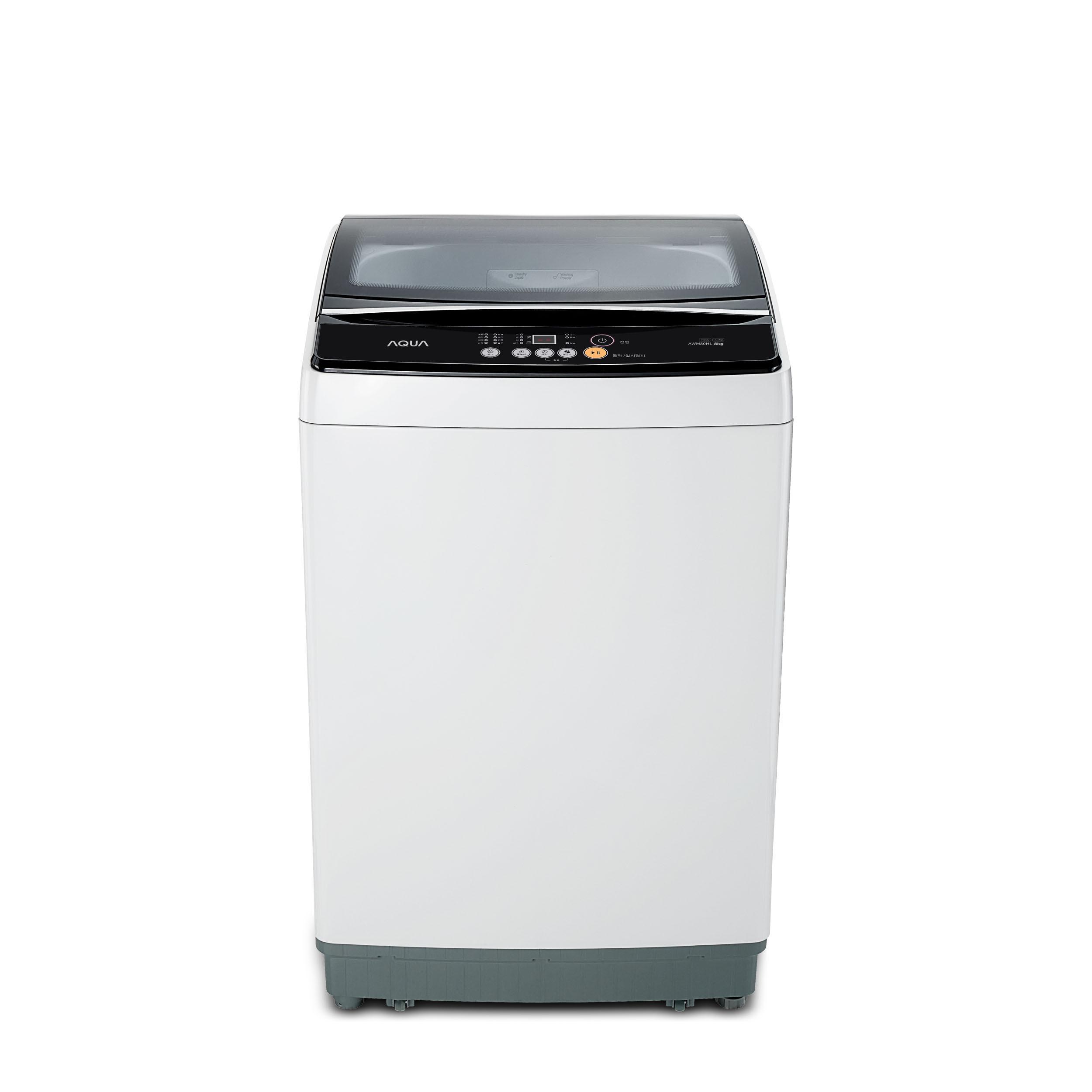 하이얼 일반 통돌이 세탁기 소형 연그레이 8kg 방문설치, AWM80HL