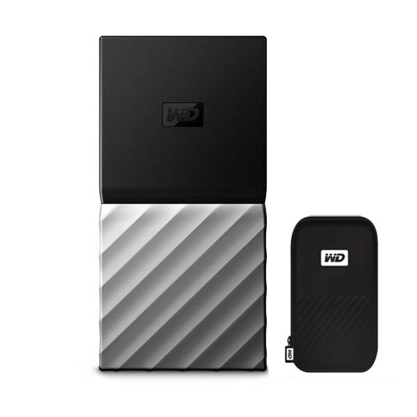 WD My Passport SSD 휴대용 외장하드, 256GB, 블랙 + 메탈그레이