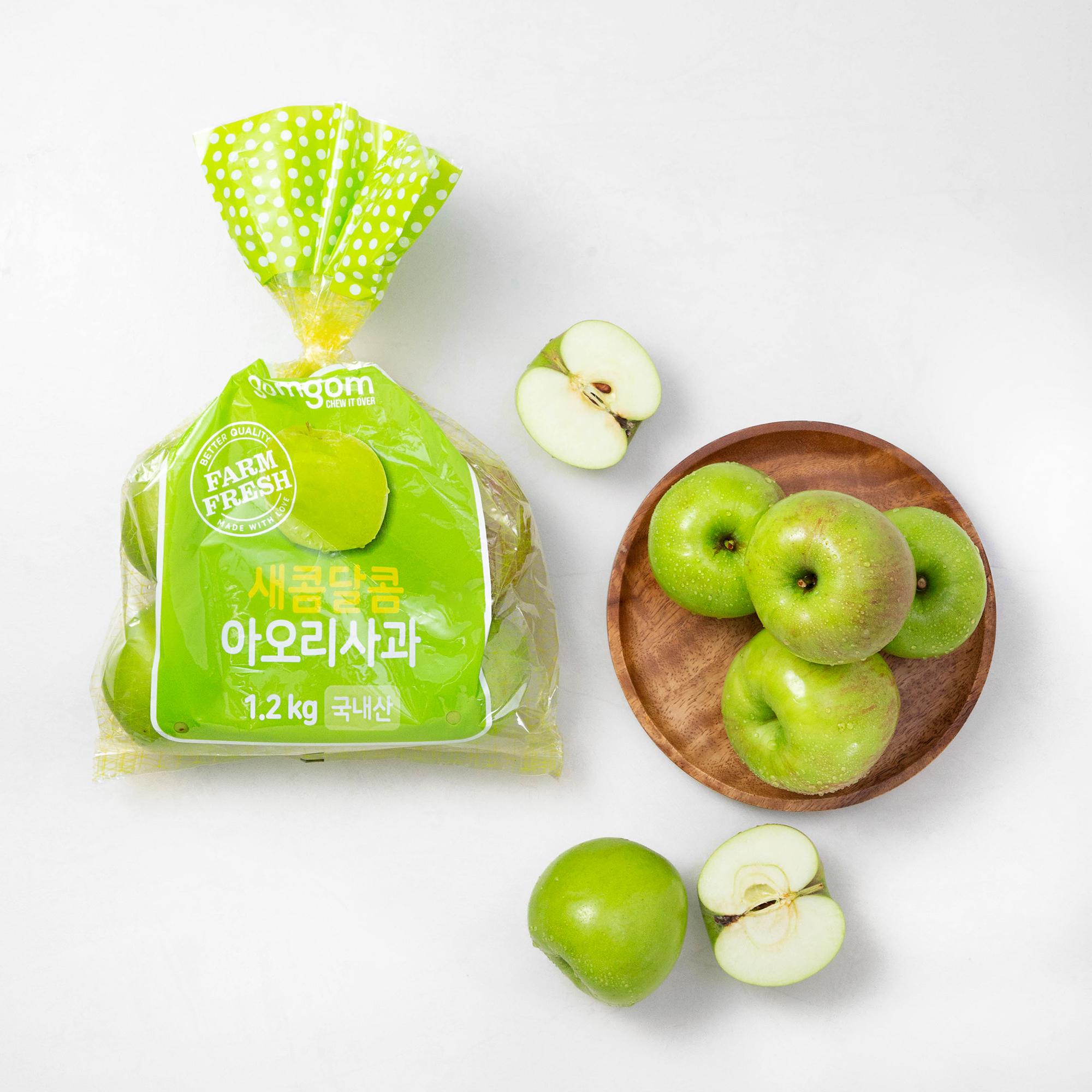 곰곰 새콤달콤 아오리 사과, 1.2kg, 1봉