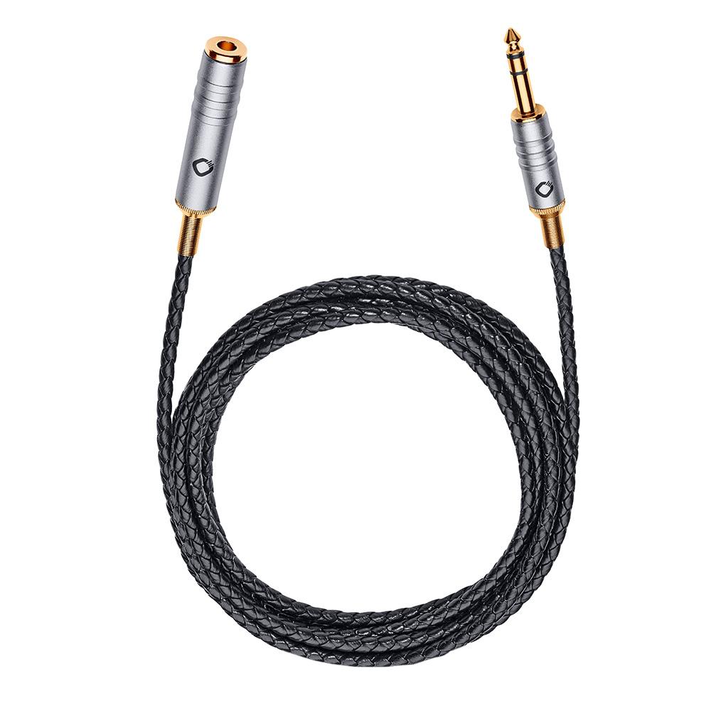 오엘바흐 I-JACK EX 63 500 6.3mm / 6.3mm 휴대용 헤드폰 케이블 연장선 5m, 35504, black