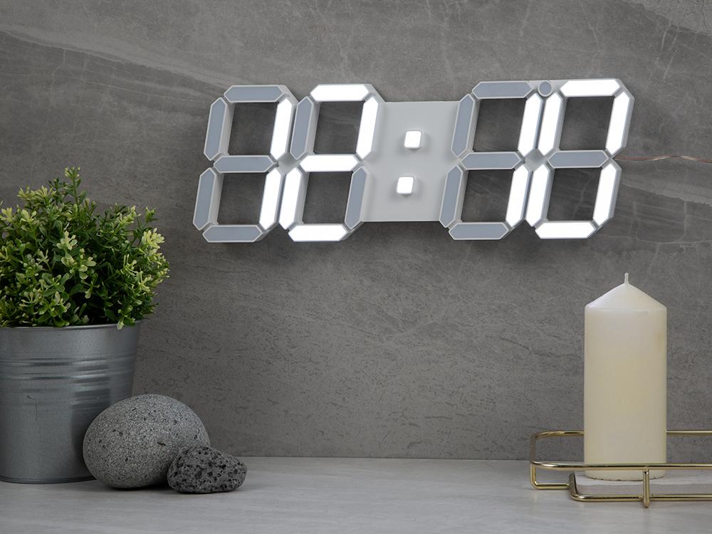 홈플래닛 리모컨 3D LED 벽시계, 단일색상