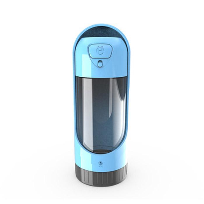 딩동펫 반려동물 슬라이드 휴대용 물병, 블루, 1개