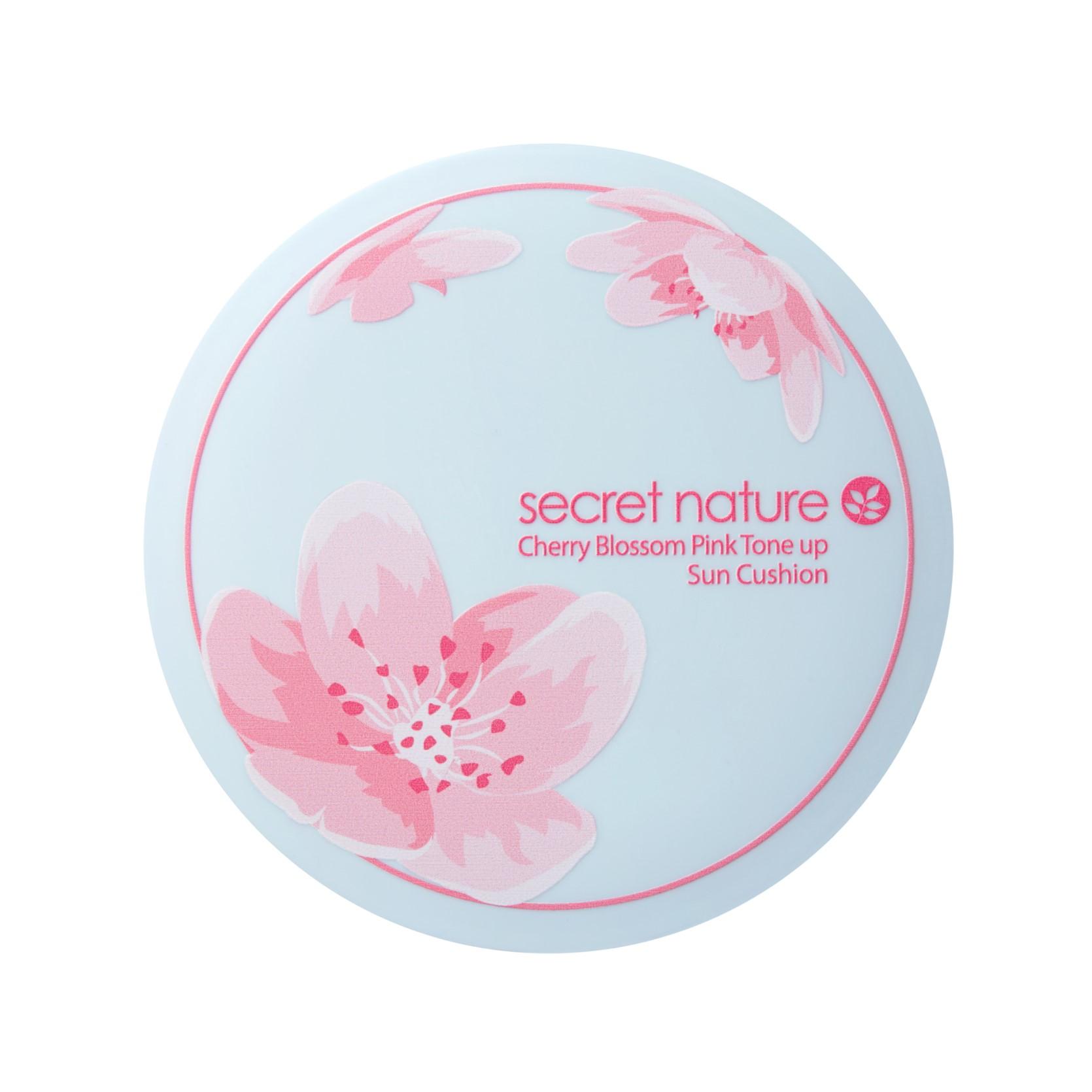 시크릿네이처 벚꽃 핑크 톤업 선쿠션 SPF50+ PA++++, 20g, 1개