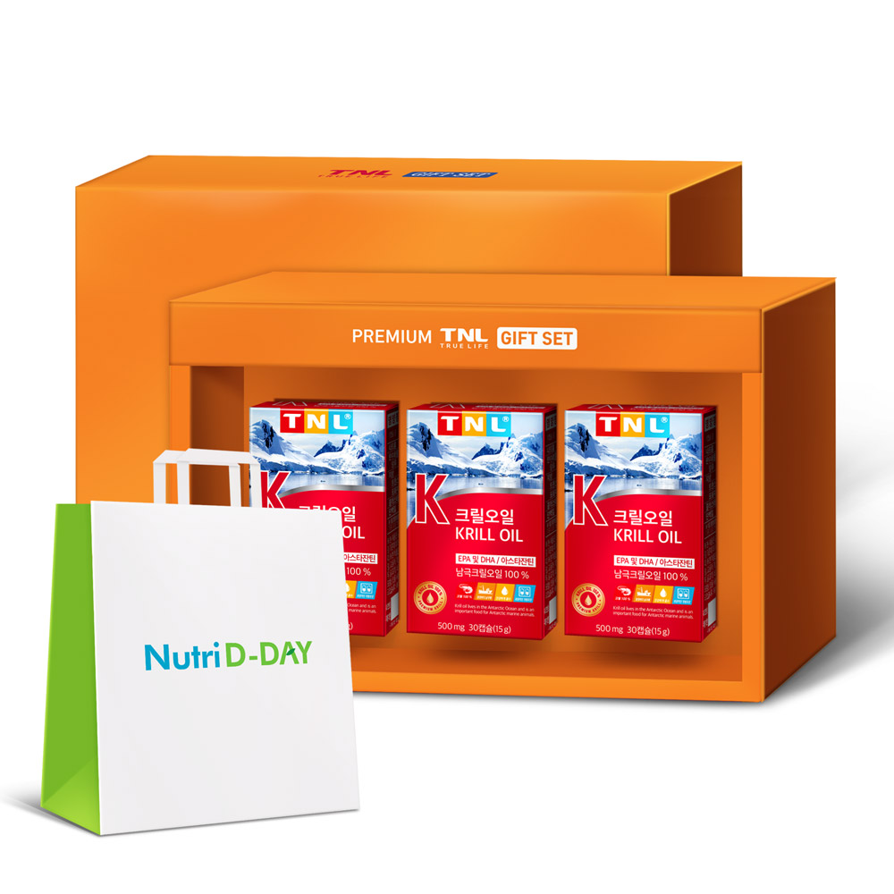 TNL 크릴오일 선물세트, 30캡슐, 3개입