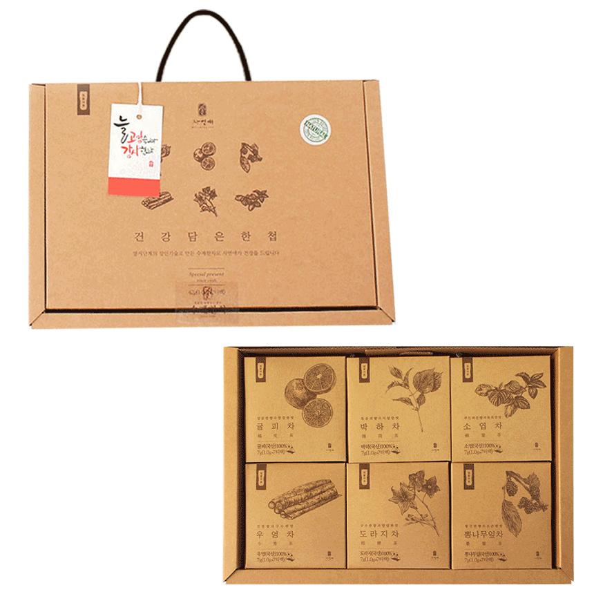 [추석 선물 세트] 자연애 건강담은 한첩 텀블러용 수제차 선물세트, 6종, 1세트 - 랭킹48위 (19600원)