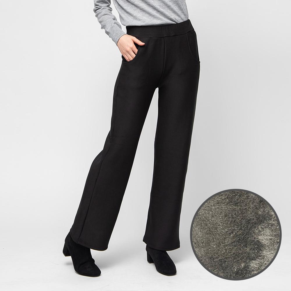 캐럿 여성용 융털 기모 일자 팬츠