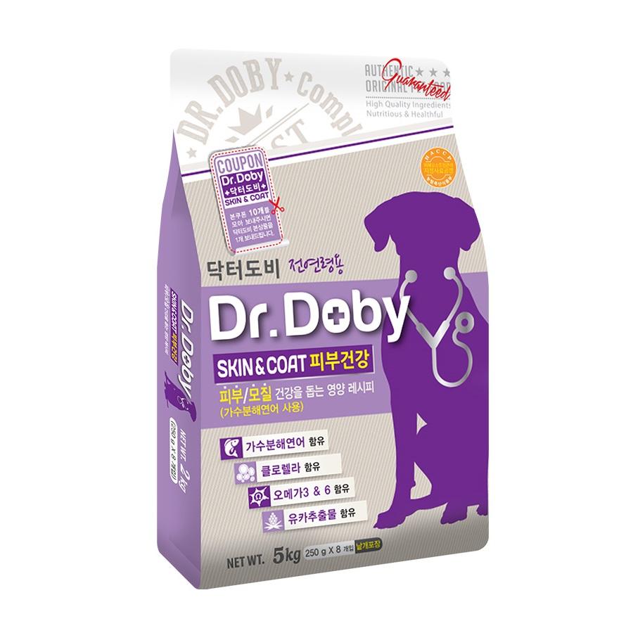 [Gold box] 닥터도비 전연령 스킨앤코트 피부건강 건식사료, 5kg, 1개 - 랭킹6위 (19970원)