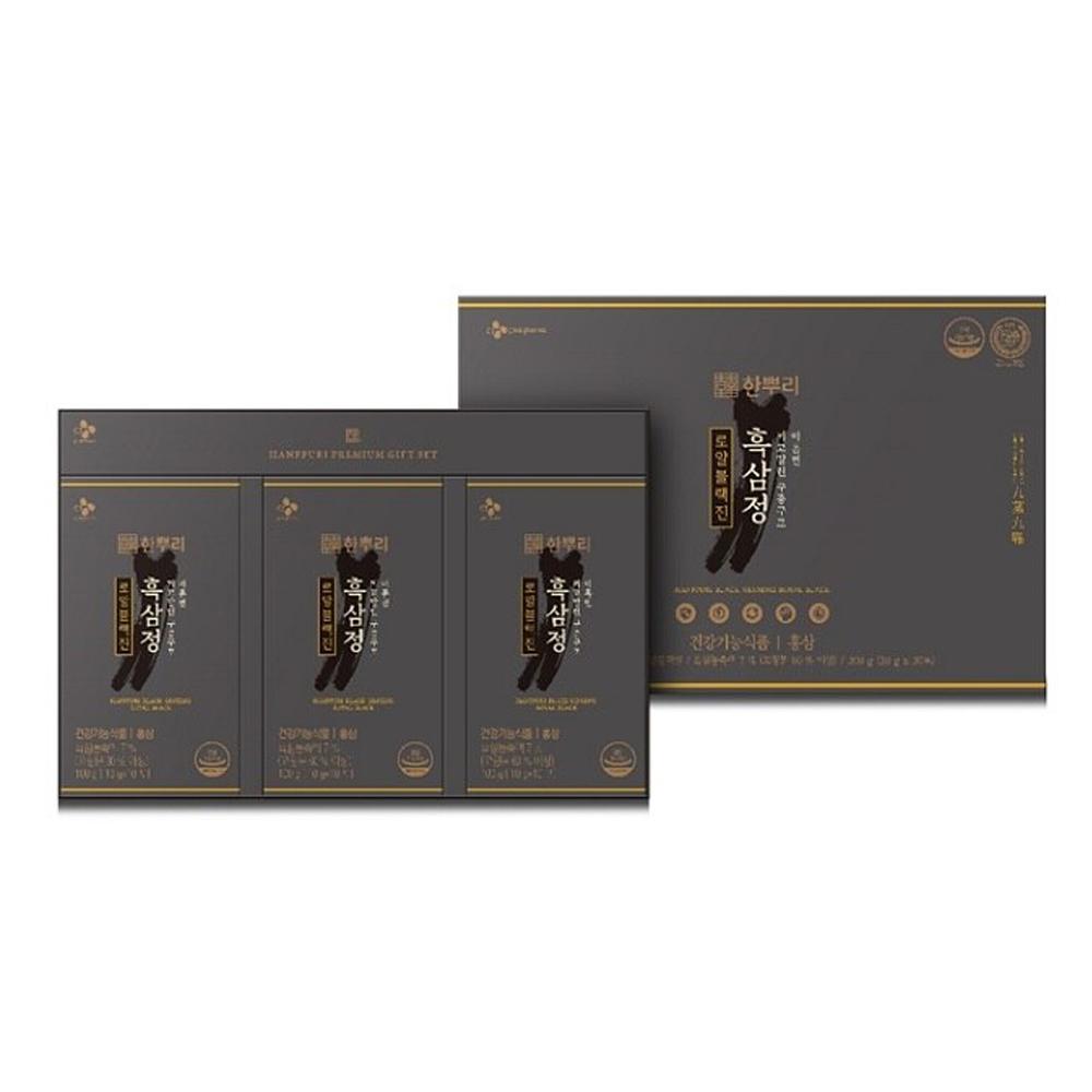한뿌리 흑삼정 로얄블랙진 30p + 쇼핑백 세트, 300g, 1세트