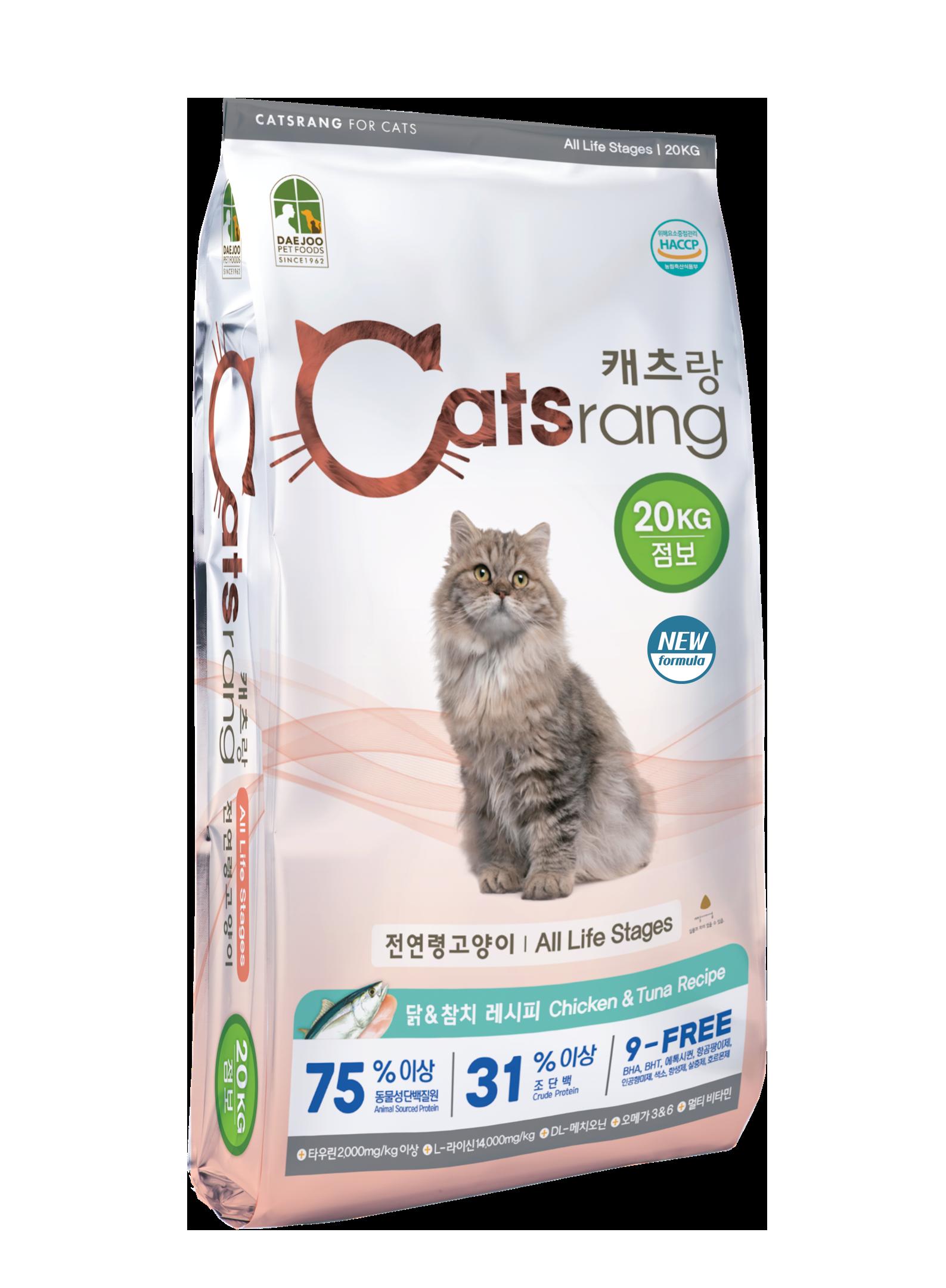 캐츠랑 NEW 전연령 올라이프 고양이 건식사료, 닭+참치, 20kg