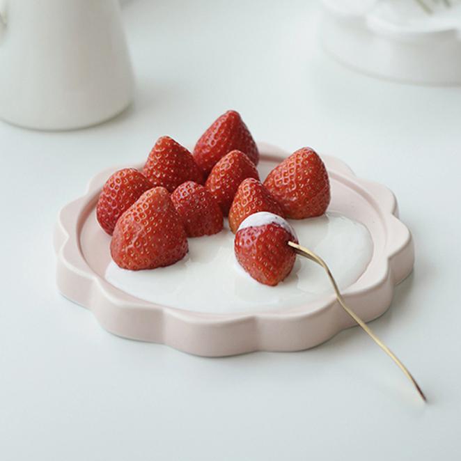 에라토 블루밍 디저트 접시, 핑크, 1개