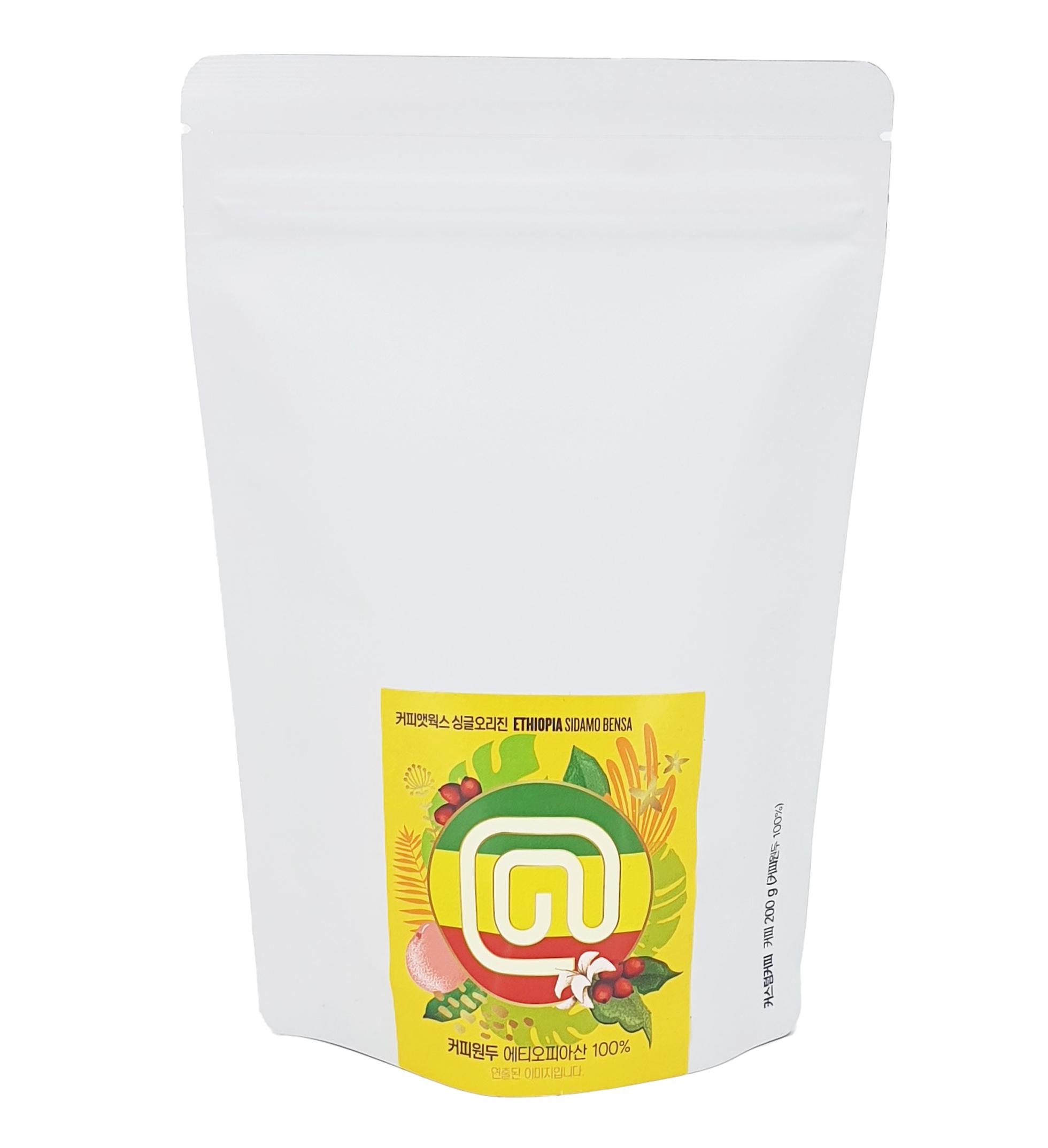 커피앳웍스 에티오피아 벤사 원두, 홀빈(분쇄안함), 200g