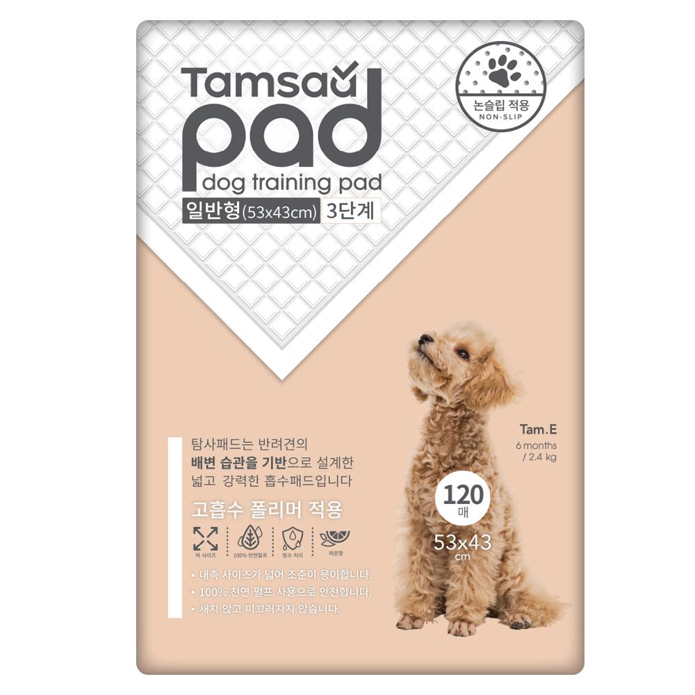 쿠팡 브랜드 - 탐사 강아지 배변패드 일반형(53 x 43cm) 3단계 120매, 1개