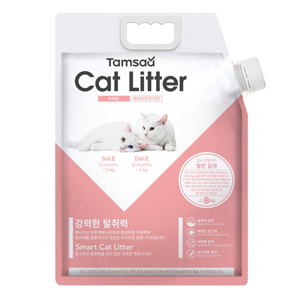 탐사 고양이모래 일반입자형 베이비파우더향, 8.1L, 1개