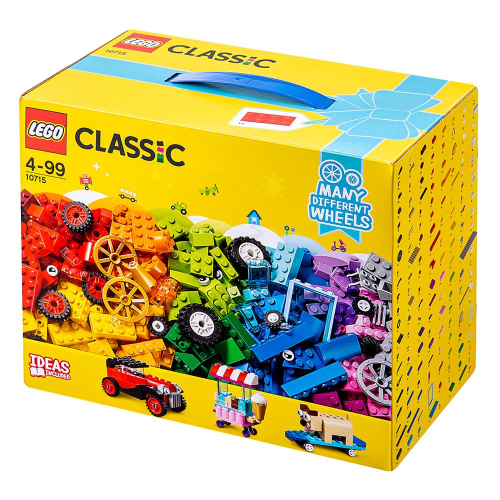 레고 클래식 브릭과 바퀴 조립박스 10715, 혼합 색상