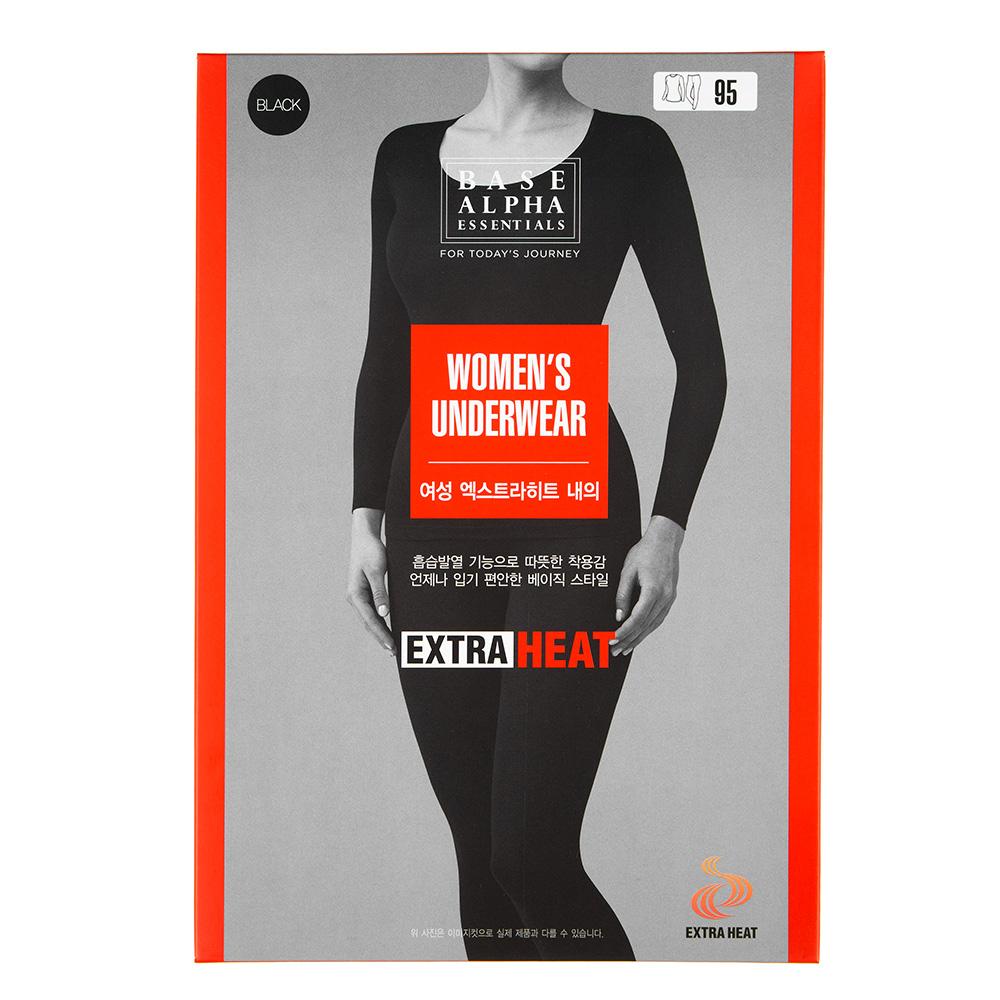 베이스알파 엑스트라히트 여성용 흡습 발열내의 세트