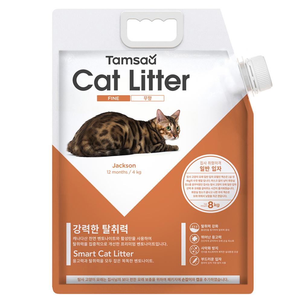 탐사 고양이모래 일반입자형 무향, 8.1L, 1개
