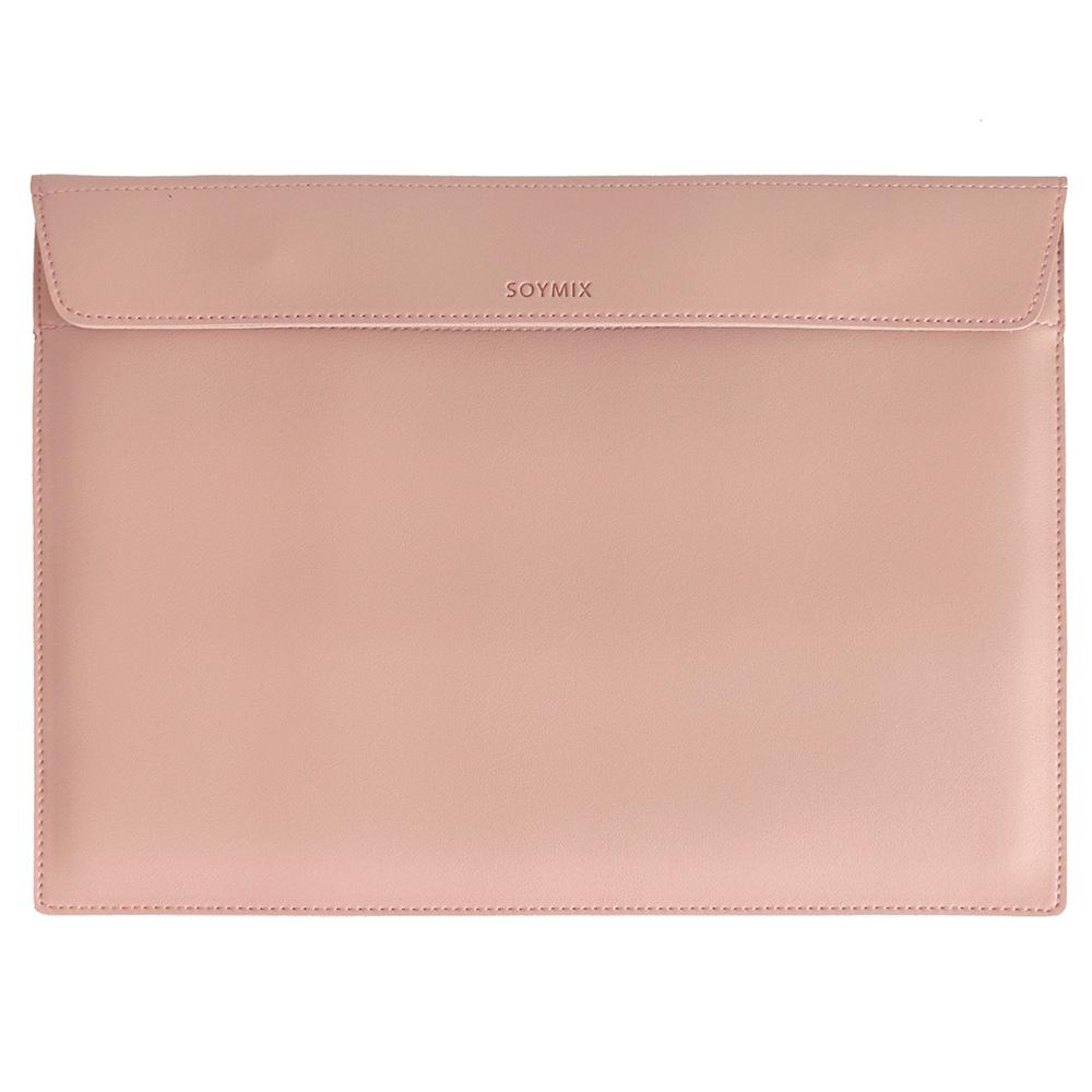 소이믹스 마그넷 가죽 노트북 파우치 맥북 가방 SOL2, 인디핑크