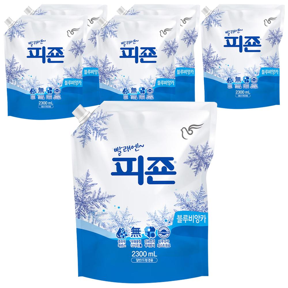피죤 레귤러 섬유유연제 블루비앙카 리필, 2.3L, 6개