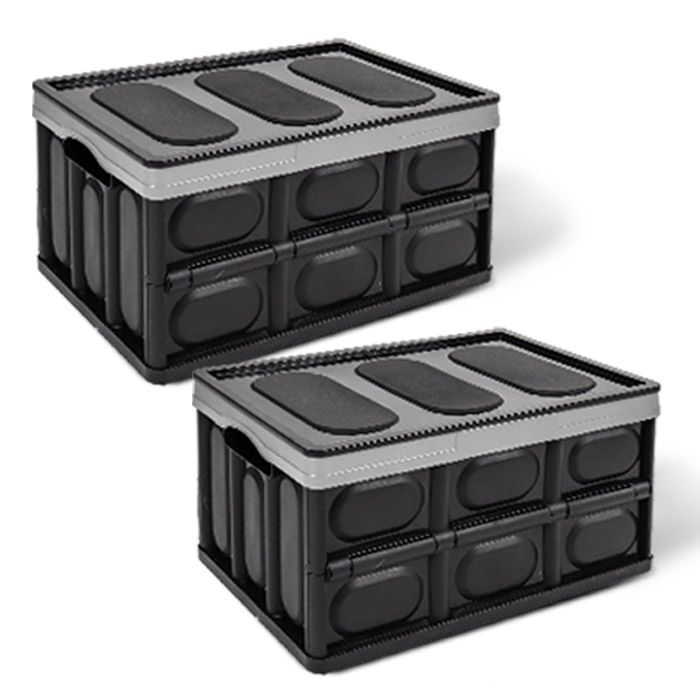 어반카 차량용 매직 폴딩박스 56L x 2p, 블랙