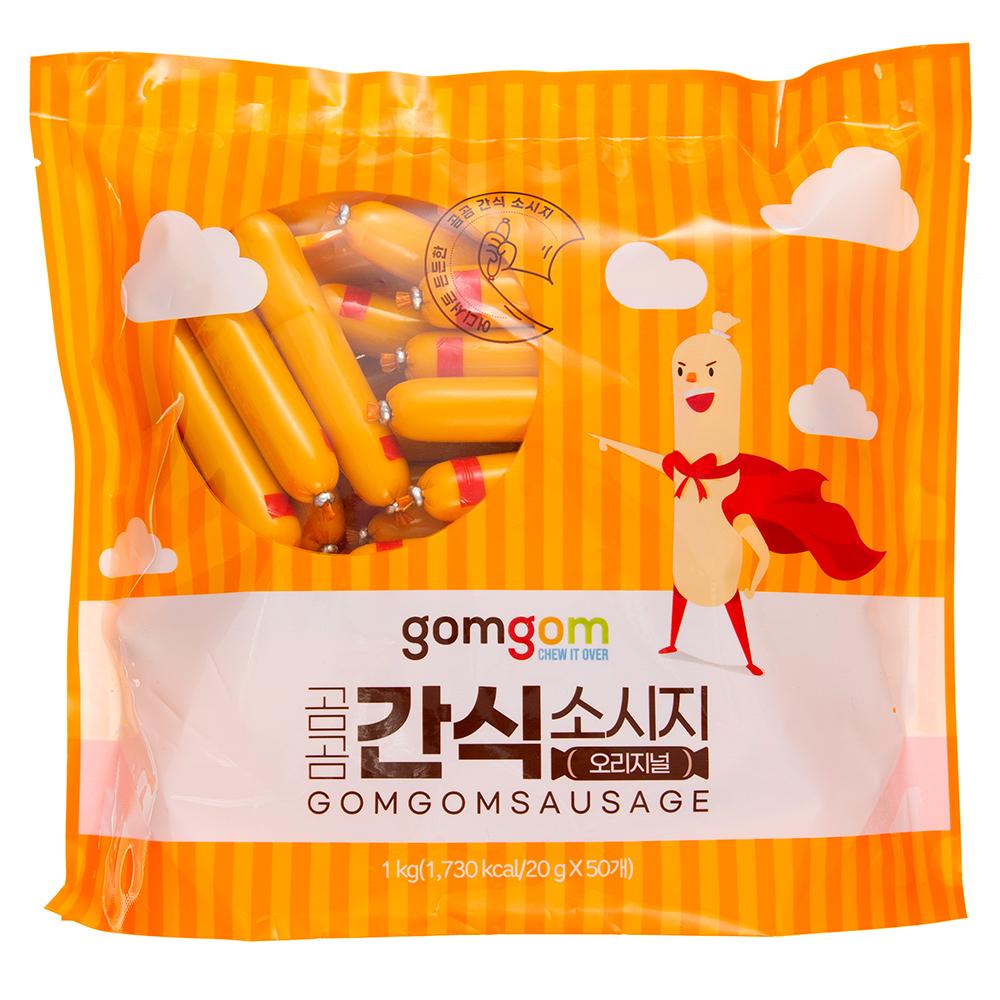 곰곰 간식 소시지 오리지널, 20g, 50개
